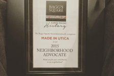 MadeInUtica Won Bagg's Square Award