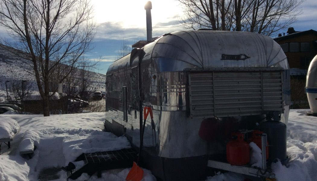Cooking Riggies in a '59 Streamline Trailer…in Utah